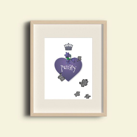 Heart Print Printable wall art decor poster. от printableartidea