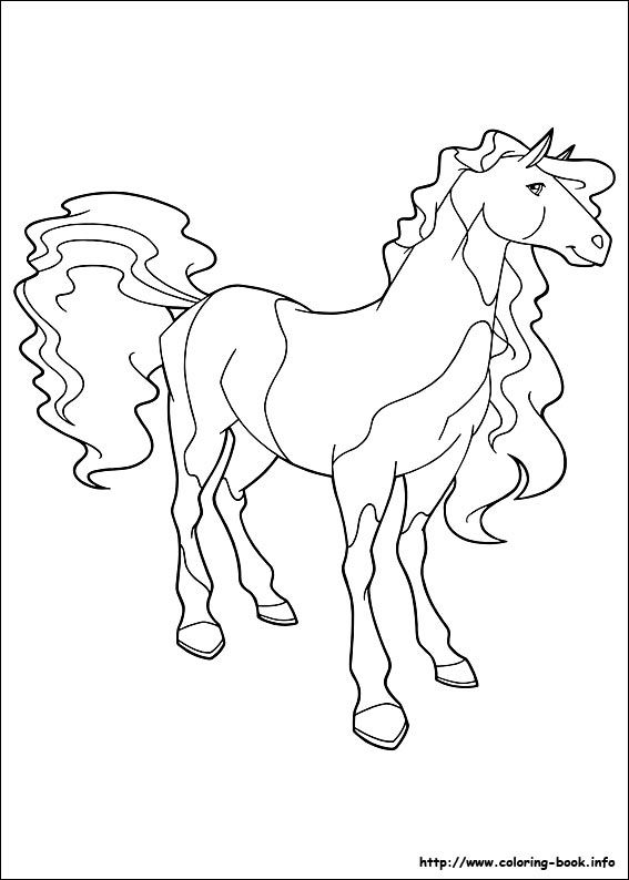 horseland coloring picture - Horseland Coloring Pages Print