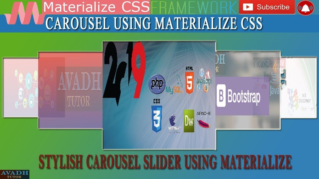 Carousel Using Materialize Css Css