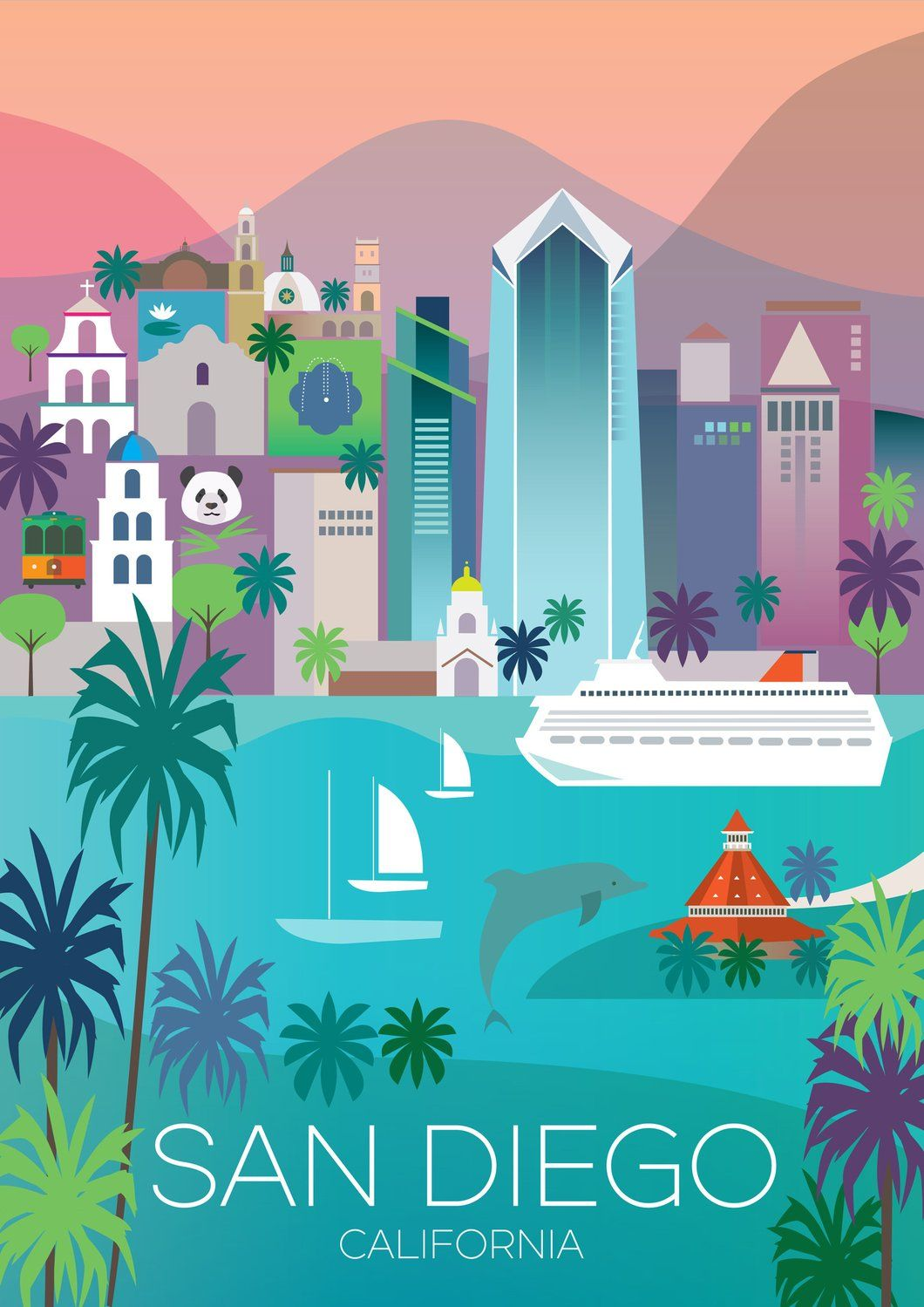 San Diego Design Series A Look Into Coronado Island: San Diego Print (With Images)