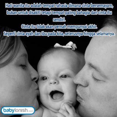 kasih sayang dari ayah dan ibu adalah anugerah pertama yang tuhan
