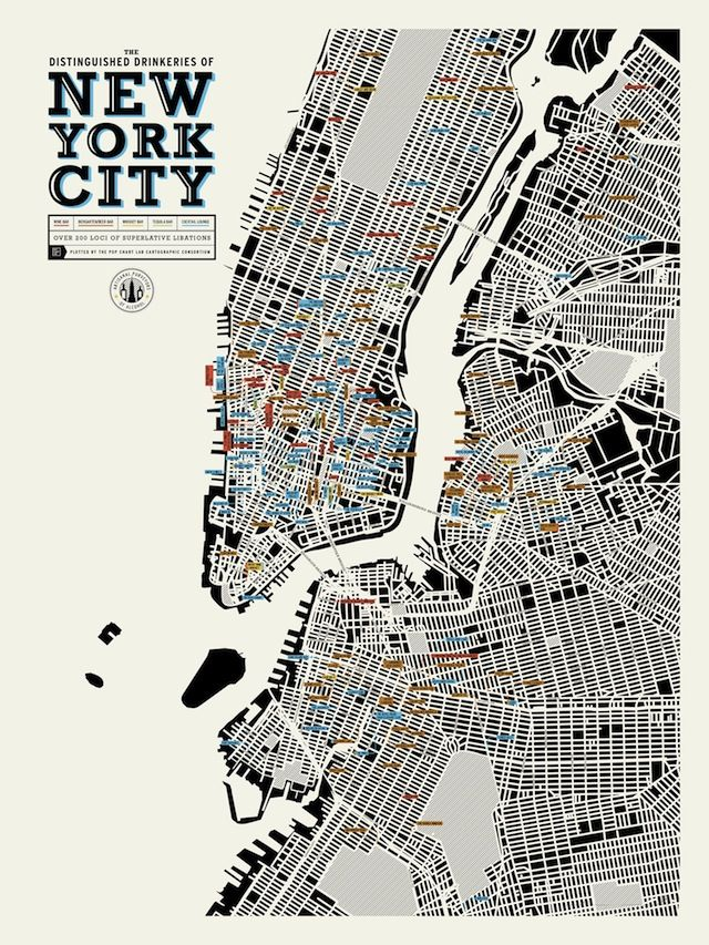 Fun Maps The Distinguished Drinkeries of NYC We recently came