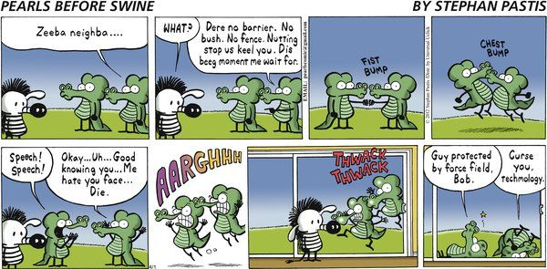 Before swine comic strip