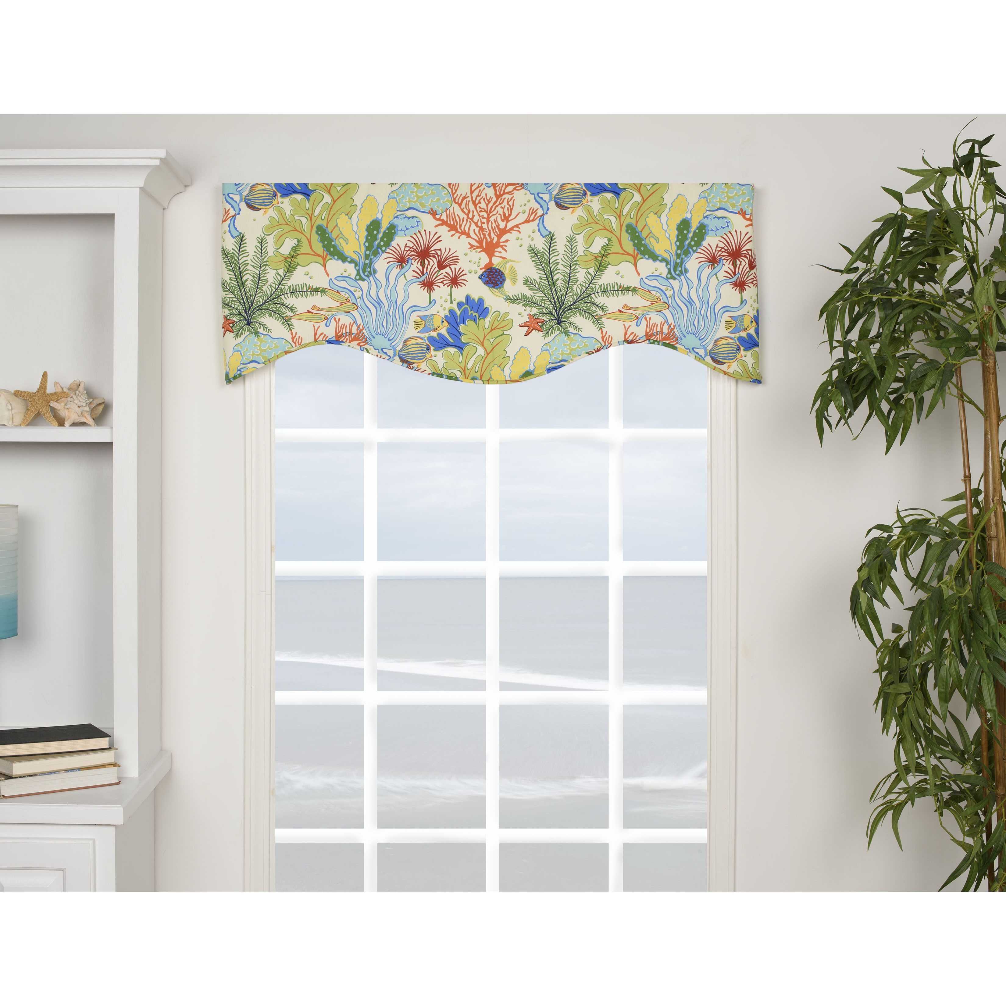 The Island Breeze Shaped Valance features a cotton construction with ...