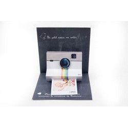 Faire part naissance Polaroid avec Magnet Ludivine