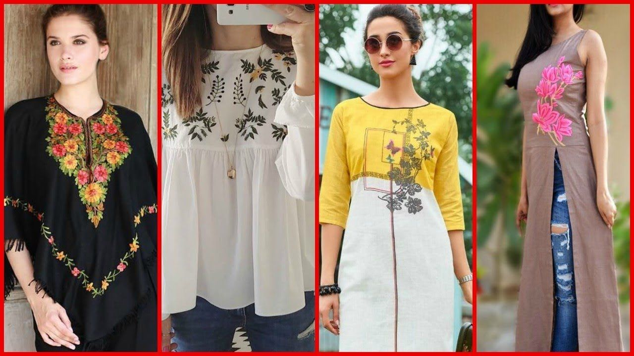 New Fashion Trend Top Stylish Designer Embroidered Kurti Designs New Indian Fashion Trends Fashion Indian Fashion