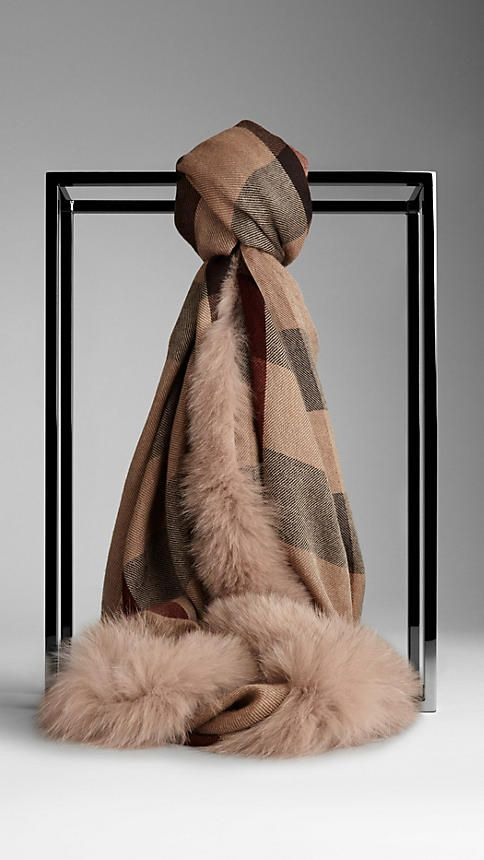 b8eefdd62 Obsessed with this fur lined scarf. Have to think on this one....it is  possible