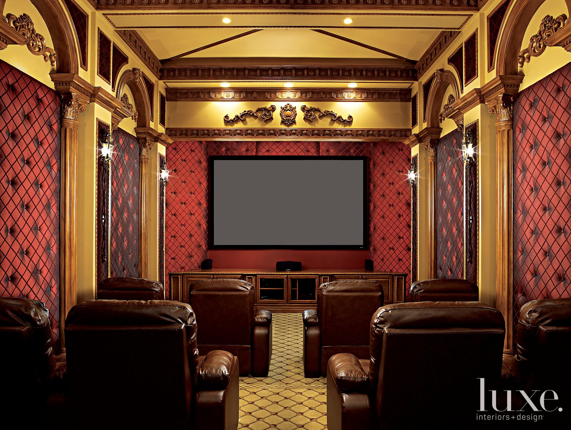 Luxe Florida | Luxe | Media | Pinterest | Basement movie room ...