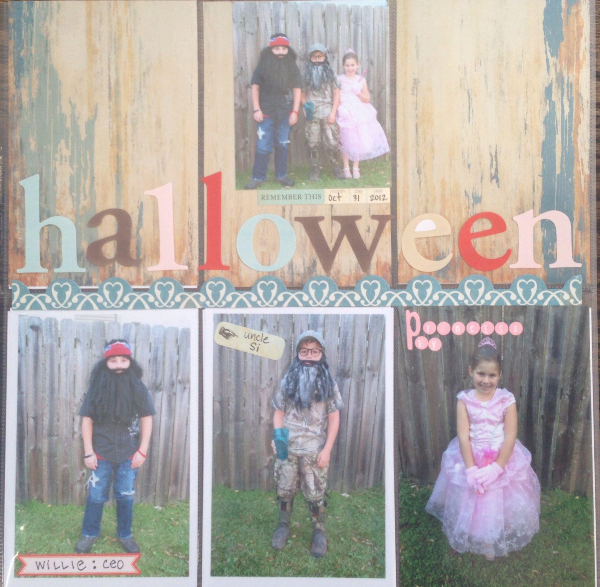Halloween duck dynasty scrapbook layout | a deb design | Pinterest