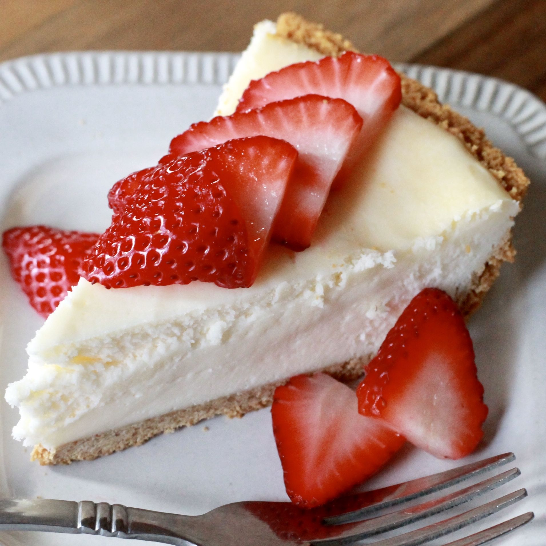 Baked Egg Free Cheesecake Safely Delish Recipe Easy Cheesecake Recipes Eggless Cheesecake Recipe Egg Free Desserts