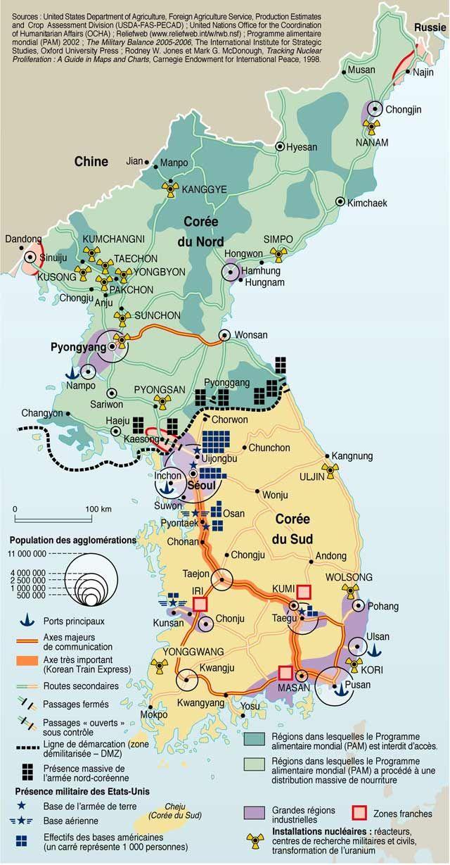 La Coree Du Nord Entre Nucleaire Et Famine Information Design