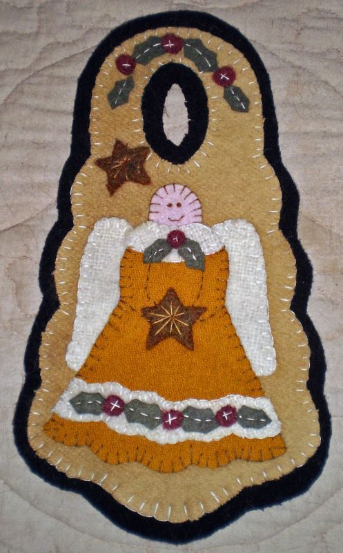 penny rug christmas angel door hanger instant download e pattern