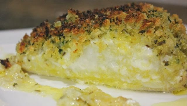 BAKED COD WITH HERB CRUST - a very easy recipe. Low in calories. Try this out for Valentine's Day!!