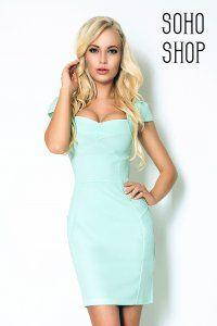 Dopasowana Sukienka Numoco Pistacja Mietowa S Xl Dresses Fashion Evening Dresses
