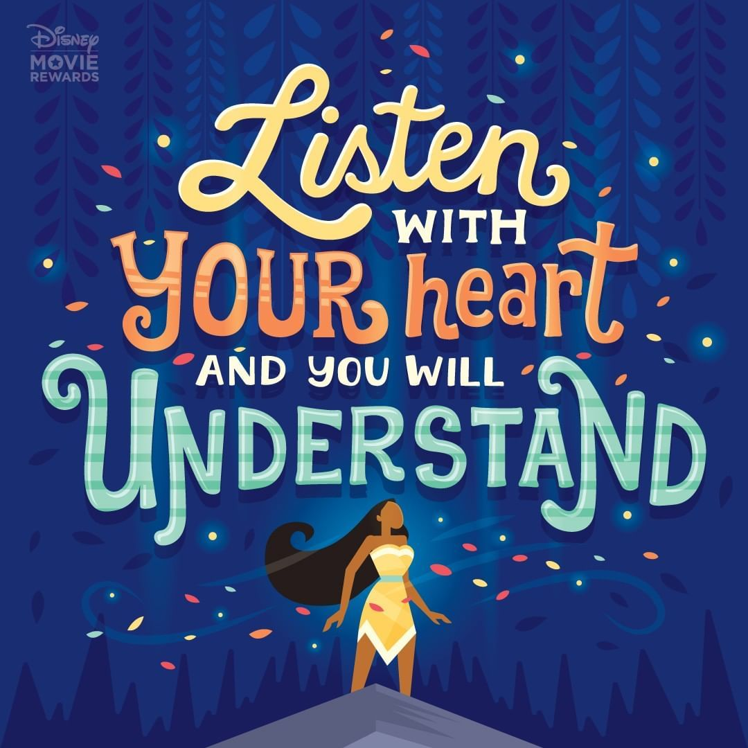 Using your heart is worth far more than gold Pocahontas