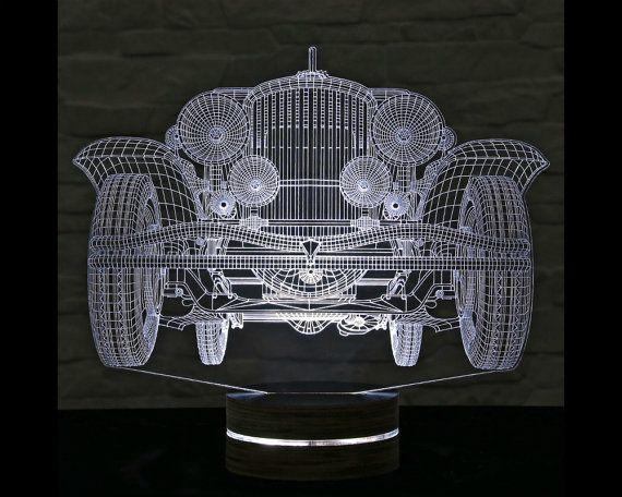 3d Led Lamp Antique Car Shape Decorative Lamp Home Decor Table Lamp Office Decor Plexiglass Art Art Deco Lam 3d Led Lamp 3d Led Night Light 3d Led Light
