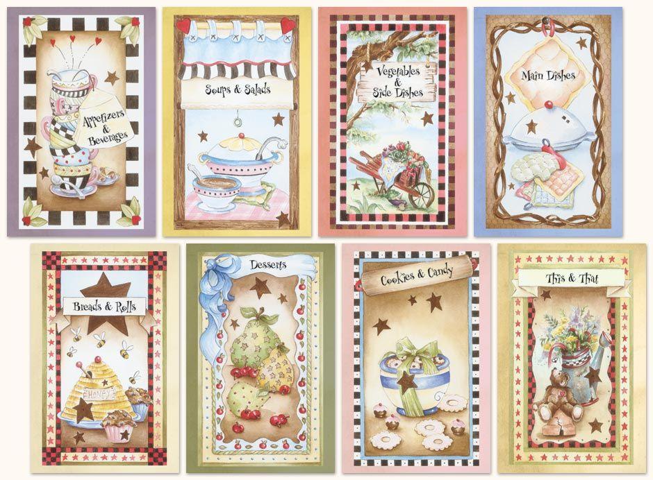Fullcolor stock divider 622 recipe book printables