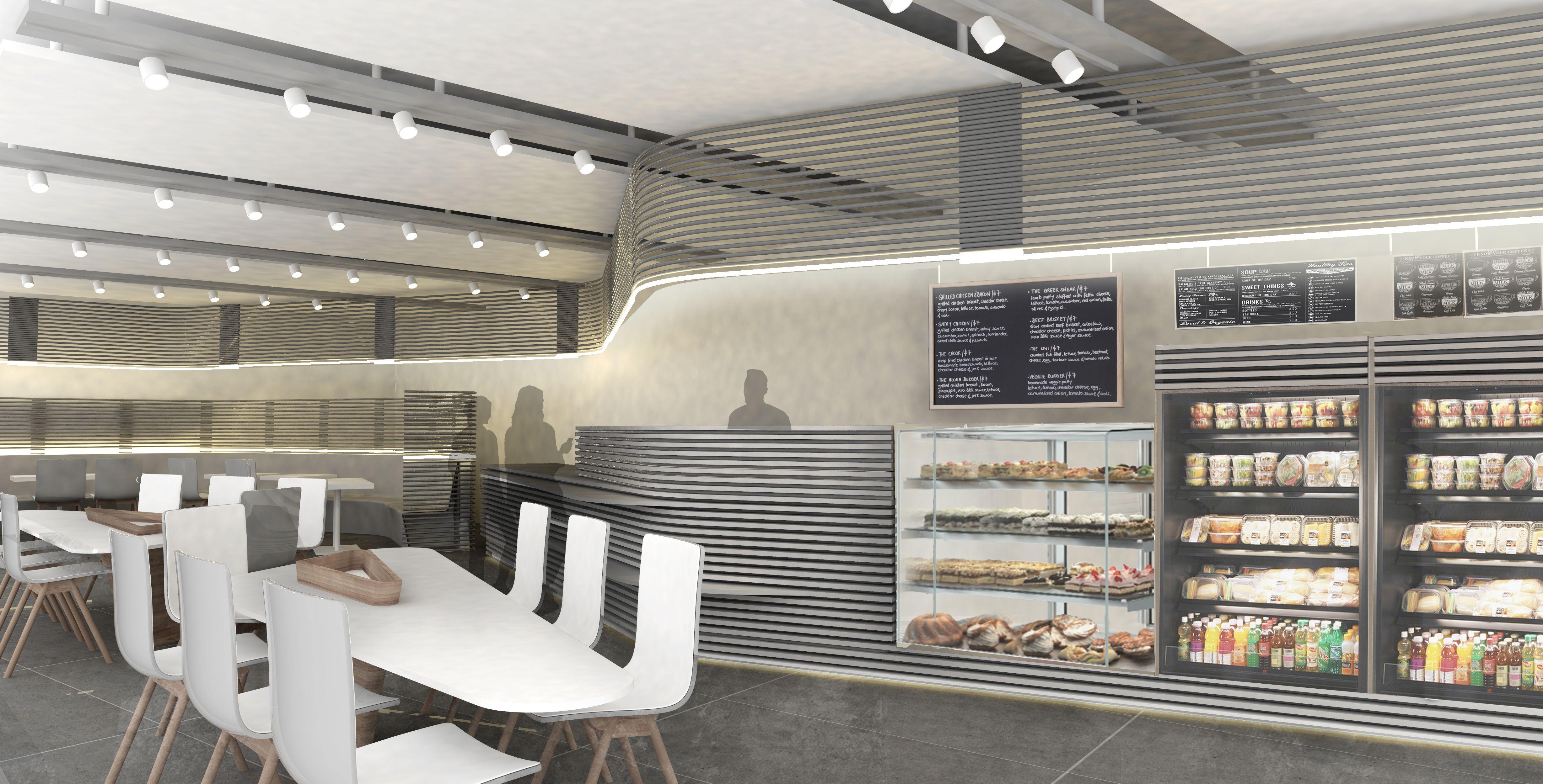 Anom cafe architectural design by alhumaidhi architects coffeeshop modern moderndesign modernliving kuwait lights also rh pinterest