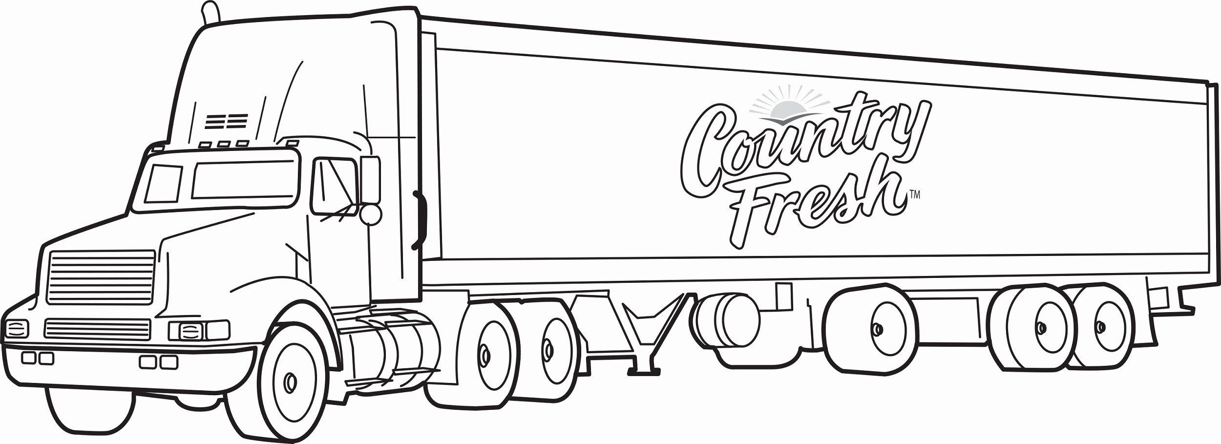 Semi Truck Coloring Page Best Of Of Big Trucks For Kids In 2020