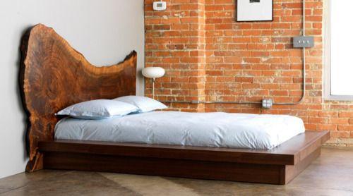 Elegant Platform bed with interesting headboard Photos - Inspirational driftwood bedroom furniture In 2018