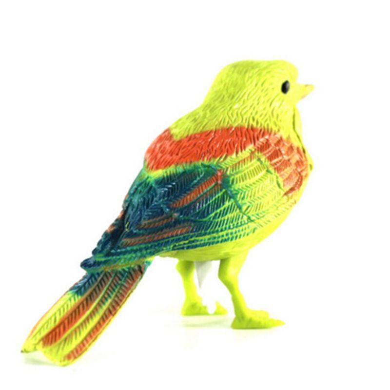 Controllo vocale Musica Uccello Giocattolo di Simulazione Carino Cantare La Canzone di Uccello Toy Doll 2017 Divertente Elettronico Pet Gabbia Decorazione Giocattoli Mattina uccello