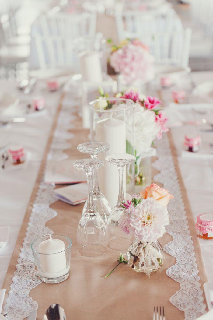 Tisch Dekoration Hochzeit Vintage Spitze Läufer Romantisch