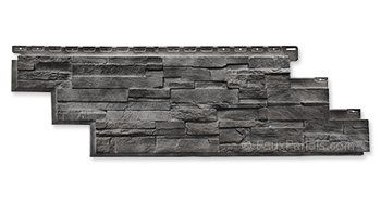 Novi Dry Stack Anthracite Panel W 41 3 4 H 13 1 8 1 Thick Stone Siding Exterior Stone Siding Stone Vinyl Siding