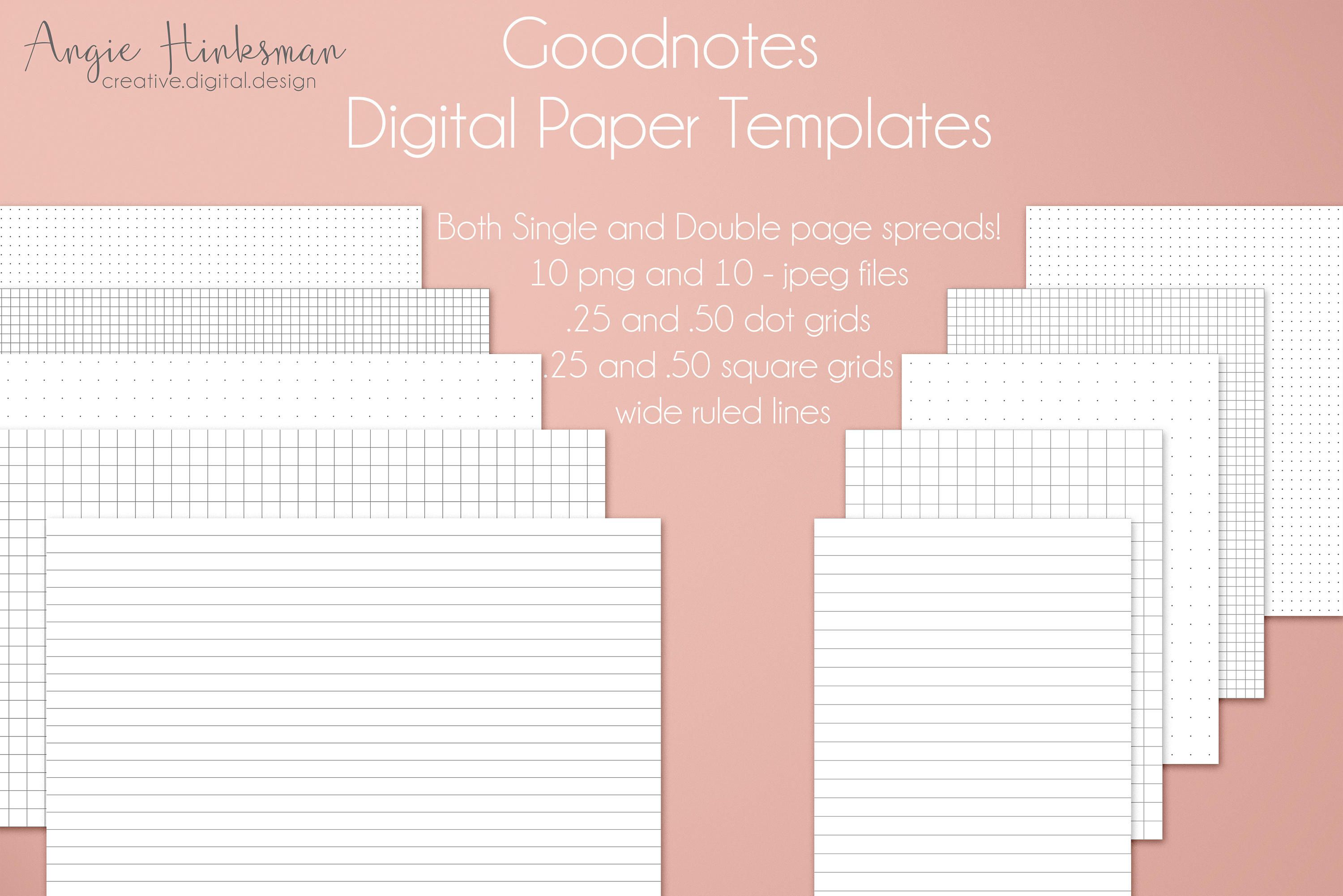 bullet journal digital planner paper templates for goodnotes limited
