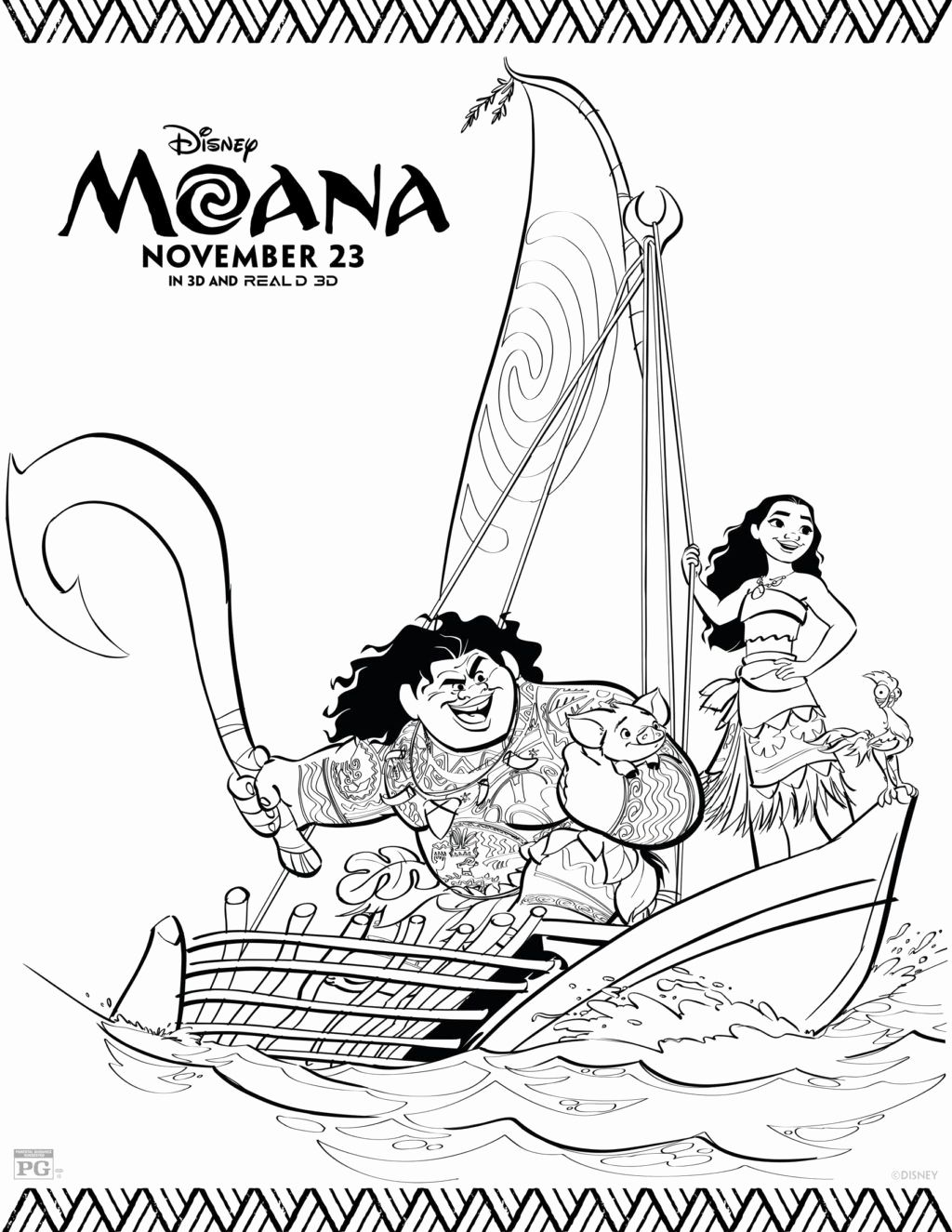 Printable Moana Coloring Pages Disney Coloring Pages Moana Coloring Moana Coloring Sheets