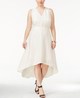 RACHEL Rachel Roy Trendy Plus Size High-Low A-Line Dress | macys.com