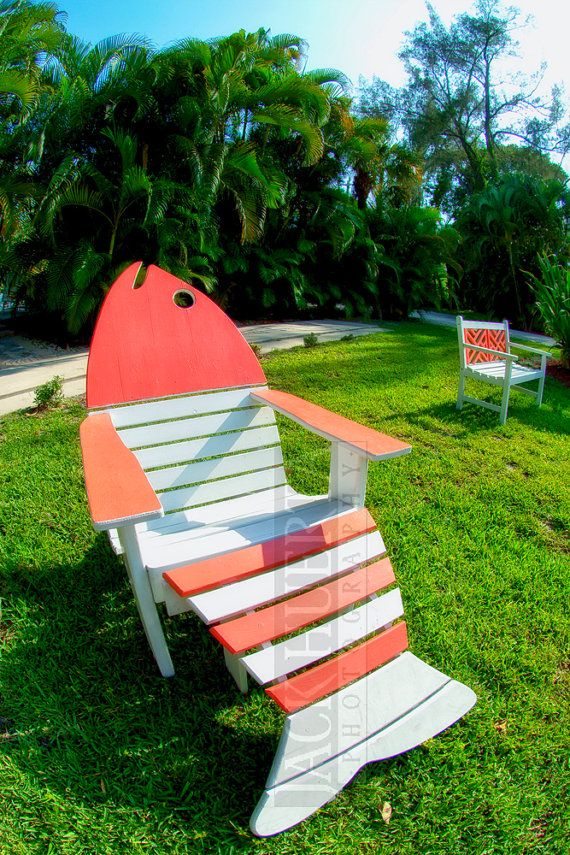 Red Fish Adirondack Chair 8x12 Fine Art Photo By