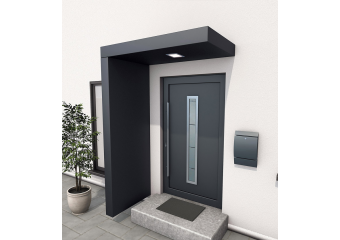 Entrance Canopy Canopy With House Number Lighting And Mailbox Haus Porche Entree Maison Entree Maison Moderne Amenagement Entree Maison