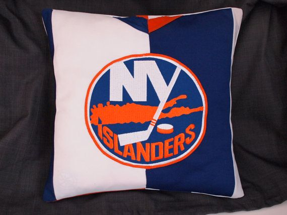 NHL Hockey Jersey Pillow for Mancave, Hockey-Mom Van, One-of-a-Kind!! Genuine Hockey Player Made