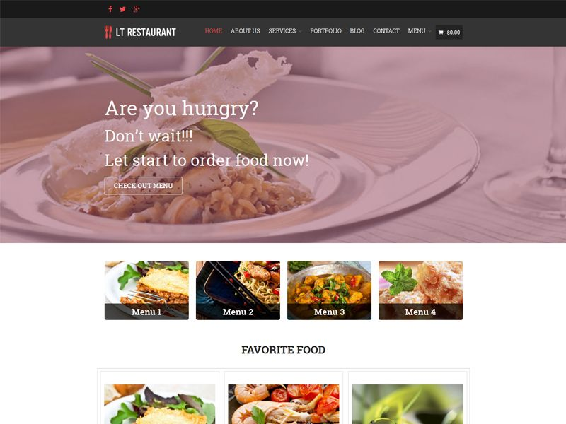 lt restaurant is a clean and great free responsive food order wordpress theme for food order