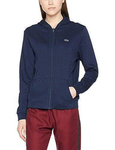 1ad819a0d523 Lacoste Sport SF1550 Sweat-Shirt Femme Bleu (Marine/Abricot) 36 (Taille  Fabricant: 36)