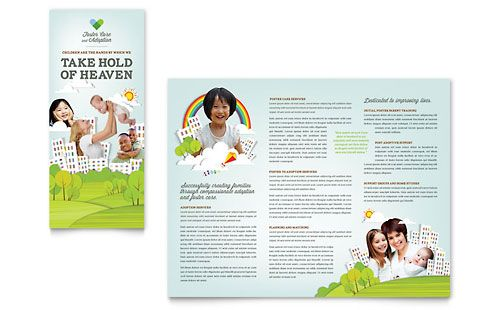 Foster Care \ Adoption Brochure Template by @StockLayouts Foster - microsoft word tri fold brochure template