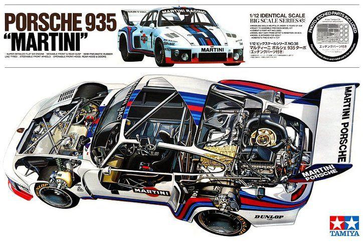 Porsche 935 Martini Cutaway Diagram Porsche 935 Porsche Car