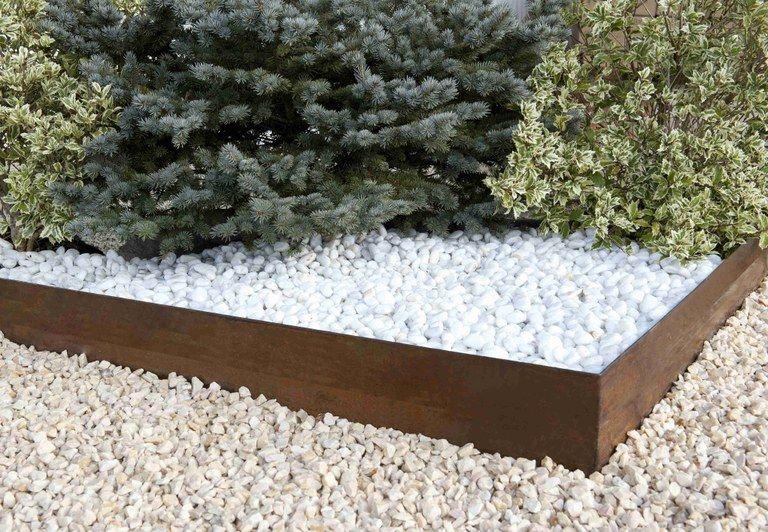bordure d 39 acier corten non oxid e droite piscine pinterest acier corten corten et. Black Bedroom Furniture Sets. Home Design Ideas