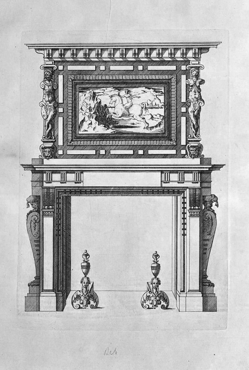 Drawing Of A Fireplace