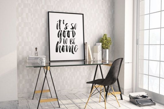 PRINTABLE ArtIt's So Good To Be HomeHome SignWall by TypoHouse
