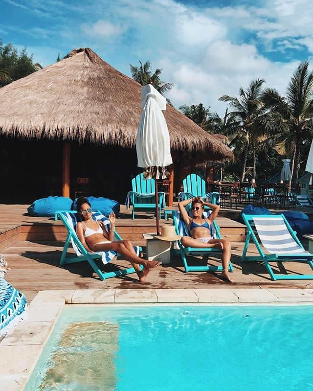 Working On Our Poolhanging Skills Here Very Important Talent In Life To Have Bali Travel Island Travel Travel