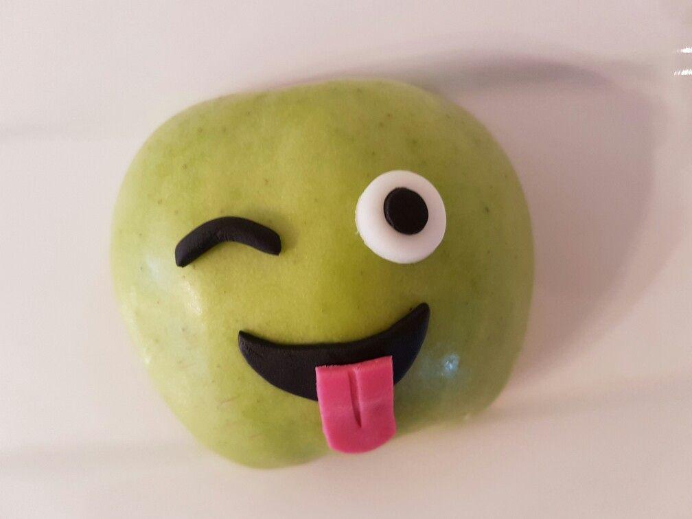 Traktatie emoji/ gezond/ appel/ treat/ basisschool