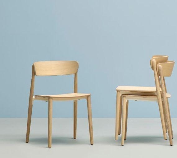 Mobilier restaurant chaise de restaurant en bois Nemea Sledge
