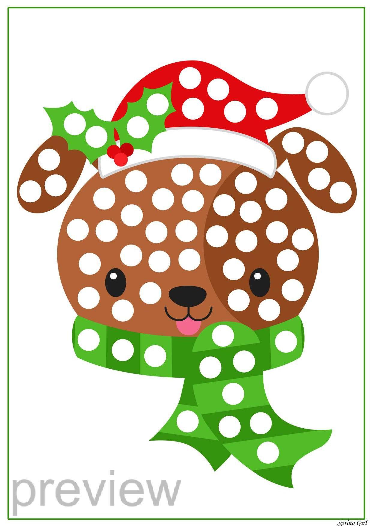 Christmas Do A Dot Printables