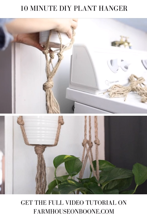 Simple Diy Plant Hanger Macrame For Beginners Video Diy Plant Hanger Plant Hanger Diy Macrame Plant Hanger
