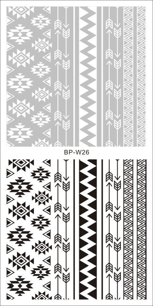 $2.00 2 Patterns/Sheet Tribal Nail Art Water Decals Aztec Transfer ...