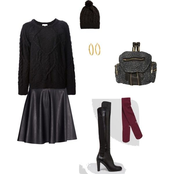 """""""Cozy leather"""" by vfriedman on Polyvore"""