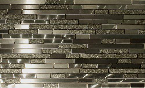 Best Of Metallic Tiles Kitchen Backsplash