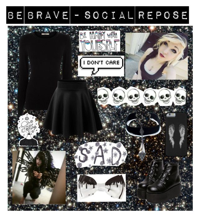 """Be Brave - Social Repose"" by mychemicalbandoms ❤ liked on Polyvore featuring Oasis, Child Of Wild, women's clothing, women, female, woman, misses and juniors"