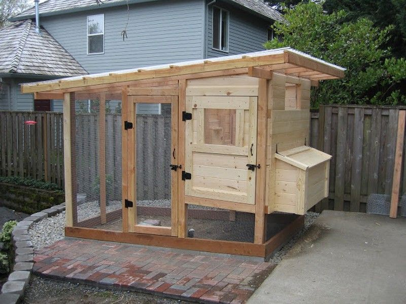 Backyard chicken coops homemade chicken coop finished for Chicken run plans